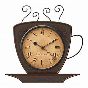FirsTime Manufactory 25524 Bronze Coffee Cup Wall Clock