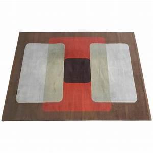 grand tapis en laine vers 1970 tapis tapisseries With grand tapis laine
