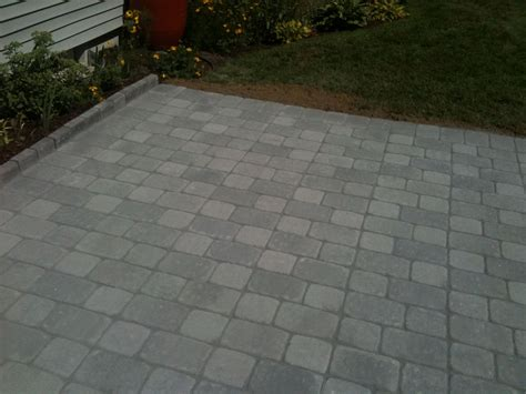 unilock camelot patio in granite blend 6 quot x6 quot 6 quot x9