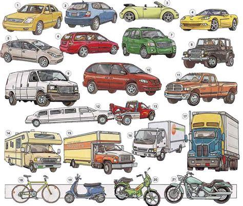 Types Of Vehicles Vocabulary Pdf