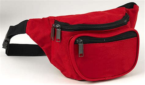 plain red hip pack lifeguard equipment