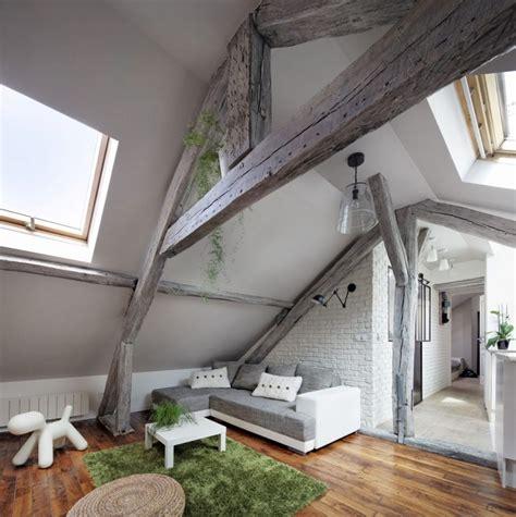 Amenager Chambre Bebe Peindre Cuisine Chene En Blanc Plafond Poutre Apparente Pour Apporter Une Touche Rustique