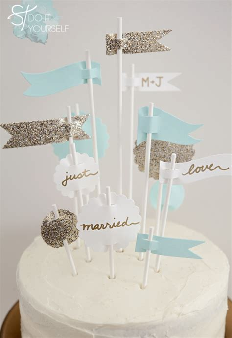 learn   easily   party flags cake topper