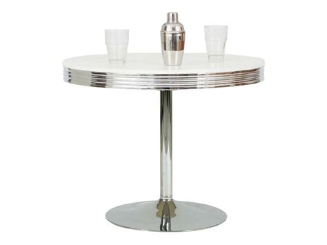 table ronde cuisine conforama table ronde dean coloris chrome conforama pickture