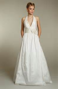 white halter wedding dress simple ivory halter wedding dress with pockets sang maestro