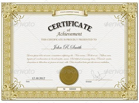 printable certificate  achievement sales