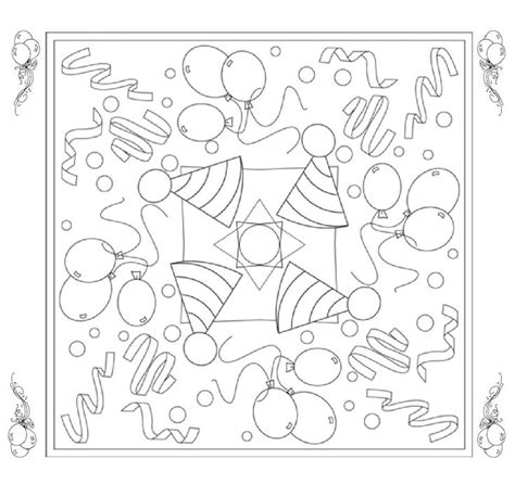 Kleurplaat Mandala Kleuters by 184 Best Feest Kleurplaten Wensjes Images On