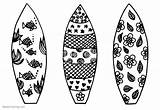 Surfboard Coloring Pages Surfboards Pattern Printable Three Adults Bettercoloring sketch template