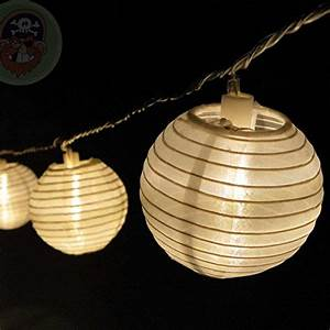 Led Lichterkette Draußen : lampion lichterkette mit 15 led lampions weiss 15 cm ~ Watch28wear.com Haus und Dekorationen