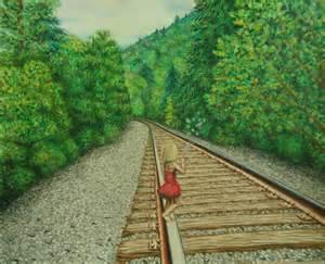 Railroad Train Pencil Drawing