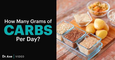 grams  carbs  day    dr axe