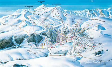 plan des pistes ski de descente besse le mont dore