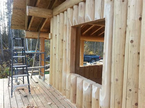 building a log cabin canadiana vertical log cabins log timber works