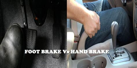 Brake Light On And While Driving by What Is The Difference Between Braking Using Foot Brake
