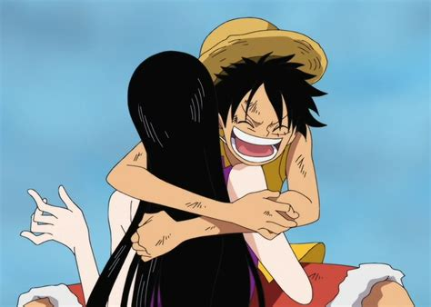 Image Luffy Hugs Hancock At Marinefordpng One Piece