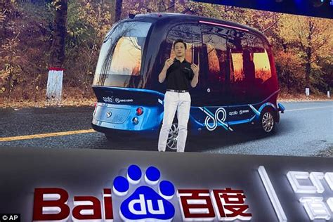 china s baidu rolls out 8 seater self driving buses daily mail