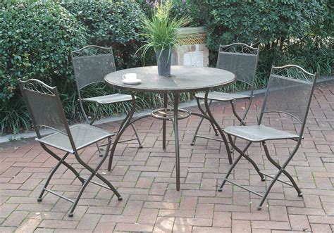 5 pc patio outdoor garden yard dining set table
