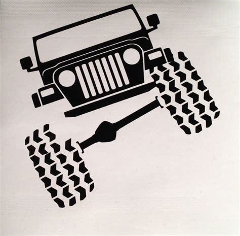 jeep vinyl decals jeep wrangler tj funny vinyl decal sticker truck ipad