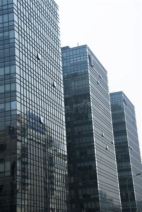 modern architecture building glass curtain wall stock