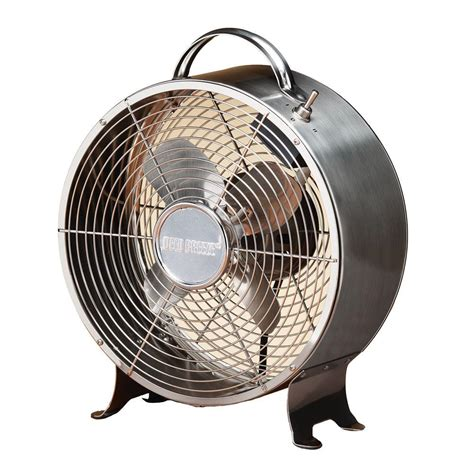 table fans at home depot deco breeze 10 in retro stainless table fan dbf0641 the