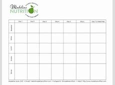 Free Meal Plan Template — Madeline Nutrition