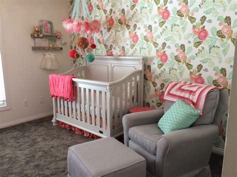 floral wallpaper   nursery project nursery