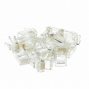 Cat6 Rj45 Crimp Connectors  Stranded  Solid  Staggered
