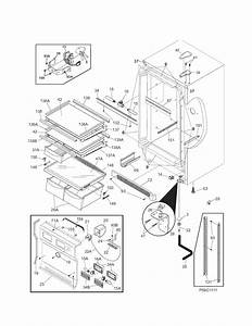 Cabinet Diagram  U0026 Parts List For Model 25344723103 Kenmore