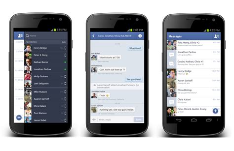 android messenger updates messenger for android with quot chat