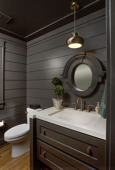 floor  ceiling shiplap   walls  dark grey