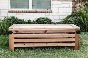 DIY Outdoor Storage Ottoman