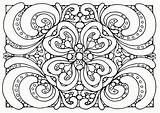 Coloring Pages Pattern Floral sketch template