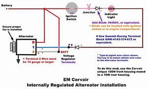 Em Internally Regulated Alternator Installation