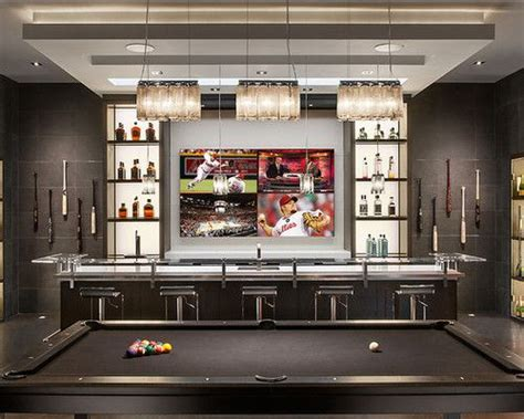 Residential Bars by Residential Bar With Big Screen Tv And Pool Table Wine