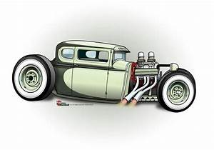 (2) The CARtoon Speed Shop Hot Rod Art/CARtoons