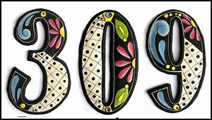 handcrafted hand painted metal house numbers outdoor With decorative house numbers and letters