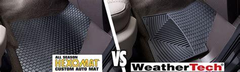 hexomat floor mats liners hexomat vs weathertech what s the best car floor mat