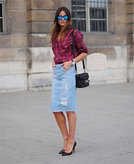 Denim Pencil Skirt Fashion