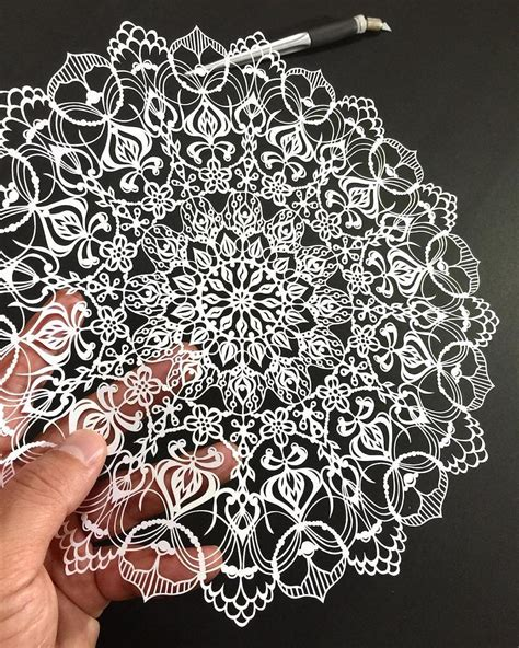 paper cutting cut mandalas and other intricate paper works by mr riu colossal