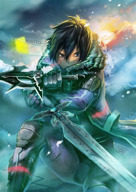 kirito  fan arts  wallpapers  daily anime