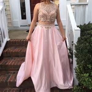 25 off david39s bridal dresses pink two piece prom dress With two piece wedding dresses david s bridal