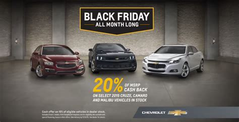 Chevrolet Commercial by Chevy Black Friday Sale Commercial The News Wheel