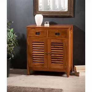 Meuble Persienne : bahut 2 portes persiennes 2 tiroirs teck meubles macabane meubles et objets de d coration ~ Melissatoandfro.com Idées de Décoration