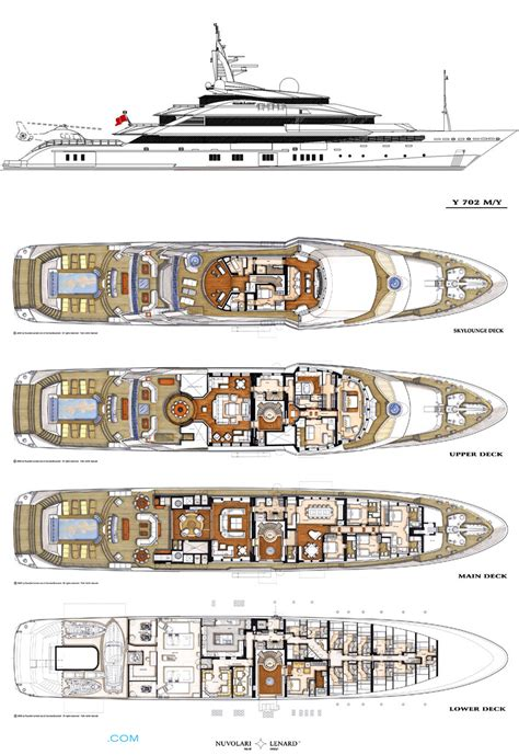 Yacht Plans by Alfa Nero Layout Oceanco Motor Yacht Superyachts