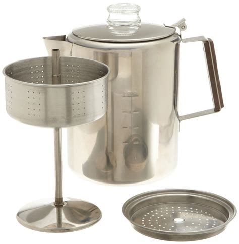 This camping drip coffee maker works on pretty much the same principle as your home drip coffee maker, except it doesn't require any electricity of any kind. Camp Coffee Pot Maker Coleman Camping Instructions ...