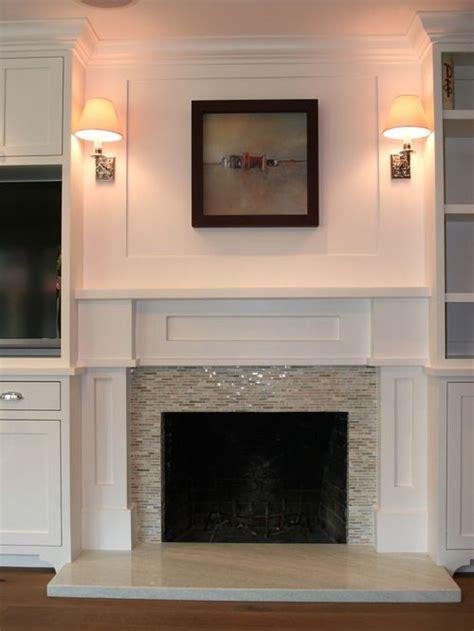 ideas  glass tile fireplace  pinterest