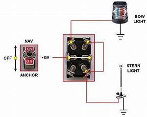 Nav  Anchor Light Switch Connection  With Pic