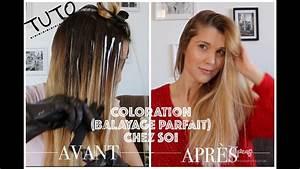 Faire Un Balayage : tuto coloration m ches balayage pour les cheveux youtube ~ Melissatoandfro.com Idées de Décoration