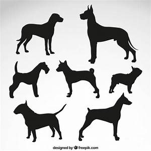 Dog breeds silhouettes Vector   Free Download