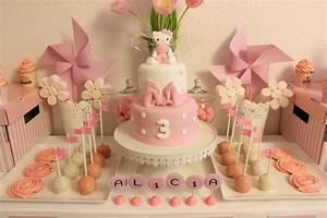 Theme Anniversaire Fille : sweet table sur le th me rose pois blanc pour les 3 ~ Melissatoandfro.com Idées de Décoration